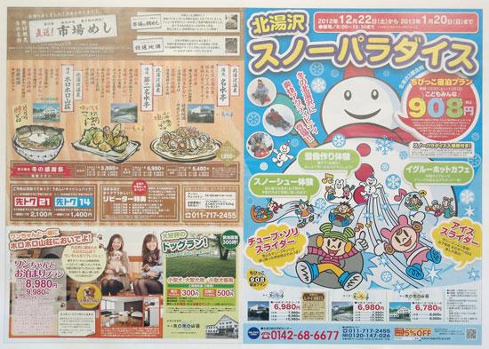 野口観光 チラシ発行日:2012/12/22