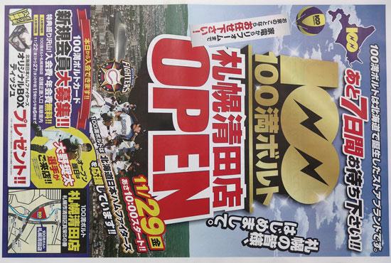 100満ボルト チラシ発行日:2013/11/22