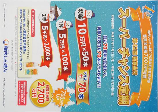 稚内しんきん チラシ発行日:2015/11/2