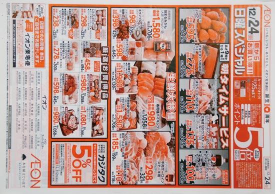 イオン チラシ発行日:2017/12/24