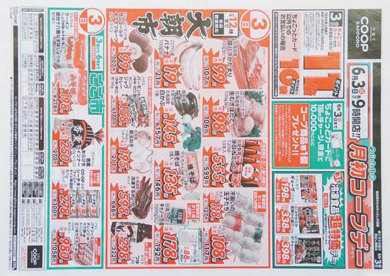 コープさっぽろ チラシ発行日:2018/6/3